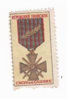 Vignette Militaire Patriotique - Croix De Guerre - Militario