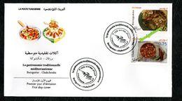 2020- Tunisie - Euromed- La Gastronomie Traditionnelle Méditerranéenne- Borzguene- Chakchouka -FDC - FDC