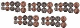 Falkland Islands - 5 Pcs X Set 5 Coins 1 2 5 10 20 Pence 2004 UNC Lemberg-Zp - Malvinas