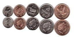 Falkland Islands - Set 5 Coins 1 2 5 10 20 Pence 2004 UNC Lemberg-Zp - Malvinas