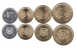 Morocco - Set 4 Coins 1 5 10 20 Santimat 1987 UNC Lemberg-Zp - Maroc