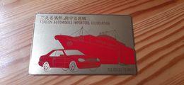 Phonecard Japan 110-011 Ship, Car, Gold Card - Japon
