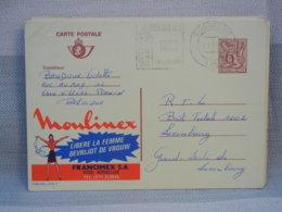 BELGIQUE - EP 6 Fr LION ROUGE - OBLIT VAGUE 1880 GOSSELIES  PUBLIBEL MOULINEX (2716F) - AK [1951-..]