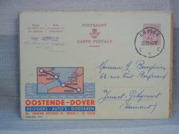 BELGIQUE - EP 2 Fr LION ROUGE -  OBLITERE BRUGGE 1963 - PUBLIBEL OOSTENDE-DOVER (1944) - Cartes Postales [1951-..]