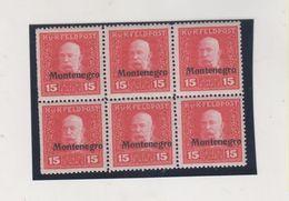 MONTENEGRO AUSTRIA Bloc Of 6 MNH - Montenegro