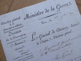 General EMPIRE Napoléon : D'HASTREL (17966-1846) Levée 5200 HOMMES. Bordeaux 1813 - AUTOGRAPHE - Autographs