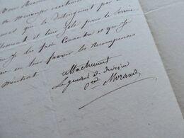 General EMPIRE Napoléon (1810) COMTE MORAND (1771-1835) Hamburg HAMBOURG - AUTOGRAPHE - Autographs