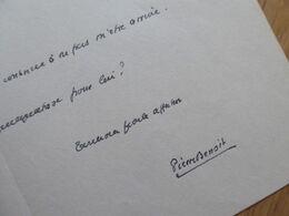 Pierre BENOIT (1886-1962) ACADEMIE FRANCAISE. Nationalisme. Proche Petain & Maurras. AUTOGRAPHE - Autographs
