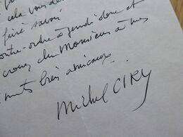 Michel CIRY (1919-2018) PEINTRE & Graveur. AUTOGRAPHE - Autographs