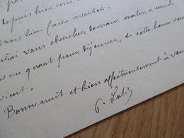 Pierre LOTI (1850-1923) AUTOGRAPHE à CATULLE MENDES Jane. [ Académie Française Pêcheur D'Islande ] - Autographs