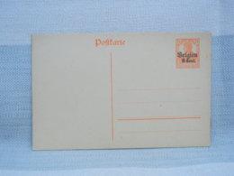 BELGIQUE ALLEMAGNE DEUTSCH - ENTIER POSTAL POSTCARTE - 7 Pf 1/2 ORANGE SURCHARGE BELGIEN 8 Cent- NEUF - Entiers Postaux
