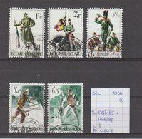 België 1964 - Yv./OCB 1293/95 + 1296/97 Gest./obl./used - Belgium