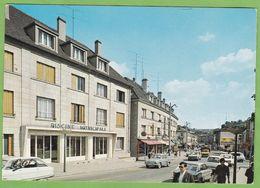 Belle CPSM CREIL Piscine Et Rue De La République Animé Voiture Renault Dauphine Citroen Ami 6 8 60 Oise - Creil