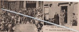 SERAING ..1933.. KONING LEOPOLD III BEZOCHT DE NIJVERHEIDSSTREEK / TECHNISCHE SCHOOL - Ohne Zuordnung