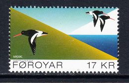 2016 Faroe Islands Birds Oystercatchers  Complete Set Of 1 MNH @BELOW FACE VALUE - Faroe Islands