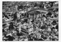 (RECTO / VERSO) BOULOGNE SUR MER EN 1961 - N° 172 /21 - LA CATHERALE ET LE CHATEAU - VUE AERIENNE - CPSM GF VOYAGEE - Boulogne Sur Mer