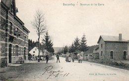 Baconfoy Avenue De La Gare Animée Circulé En 1911 - Tenneville