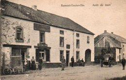 Ramont-Tenneville  Arret Du Tram Bien Animée Magasin A La Succursale A.Boeur-Verday  Circulé En 1924 - Tenneville