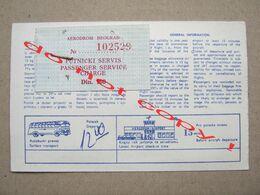 Airport Belgrade - Bus Ticket ( JAT Yugoslavia ... ) - Bus