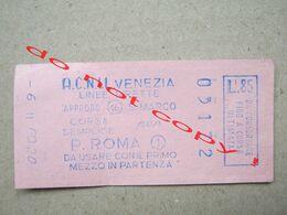 Italy / TICKET ACNIL VENEZIA LINEE DIRETTE ( 03172 ) - Bus