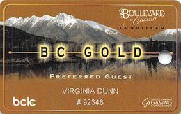 Boulevard Casino - Coquitlam, BC Canada - Slot Card - Casino Cards