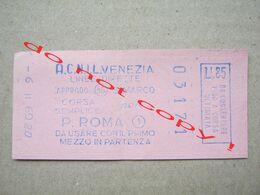 Italy / TICKET ACNIL VENEZIA LINEE DIRETTE ( 03171 ) - Bus