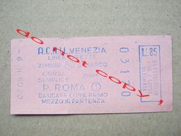 Italy / TICKET ACNIL VENEZIA LINEE DIRETTE ( 03170 ) - Bus