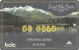 Grand Villa Casino - Burnaby, BC Canada - Slot Card - Casino Cards