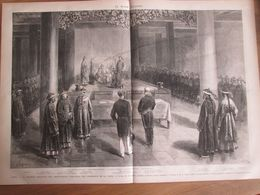 1873  Reception Des Ambassadeurs Européens    PAR L EMPEREUR DE CHINE    Ex Tchong  Ouenn  Chouenn Leou-ugo-fou Tong Che - Estampes & Gravures