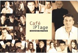"""ARCACHON (33-Gironde) Café De La Plage """" Rendez-vous Des Rugbymens  """"Bernard Laporte- Denis Charvet ) - Arcachon"""