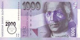 SLOVAKIA P. 39 1000 K 2000 UNC - Slowakije