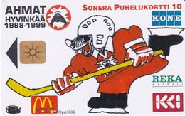 FINLAND - Ahmat/Ice Hockey Team, Sonera Telecard, Tirage 2000, 12/98, Used - Finlandia