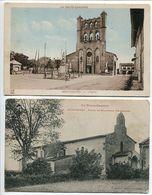 LOT 2 CP * MONTGISCARD L'Eglise (et Le Monument Aux Morts 1914 18) & Eglise De Roqueville Pélerinage - Autres Communes