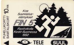 FINLAND(GPT) - Fin5 Junior World Orienteering Championship, CN : 20FINA, Tirage 6000, 06/92, Used - Finlandia