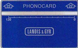 ISRAEL(L&G) - Landis & Gyr Service Telecard 120 Units, CN : 704L, Used - Israel