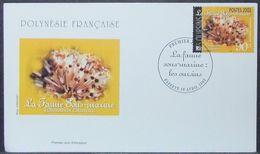 French Polynesia - FDC 2002 Fauna Marine Life - Polynésie Française