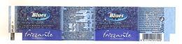 BLUES ACQUA FRIZZANTE  500 ML ETICHETTA PLASTICA ITALY - Etichette