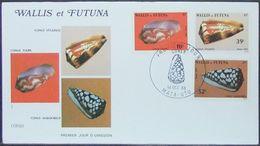 Wallis & Futuna - FDC 1983 Fauna Shells Marine Life - Covers & Documents