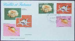 Wallis & Futuna - FDC 1984 Fauna Shells Marine Life - Covers & Documents