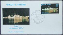 Wallis & Futuna - FDC 1984 Ship Militaria - Covers & Documents