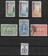 1962-3 Dominicana Productos Agropecuarios-personajes-salud 7v - Dominikanische Rep.
