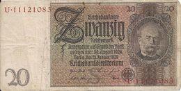 ALLEMAGNE 20 REICHMARK 1929 VF P 181 - [ 3] 1918-1933: Weimarrepubliek