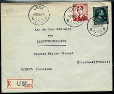 Doc. De LEKE - B B - Du 02/10/54  En Rec. ( E ) - Postmark Collection