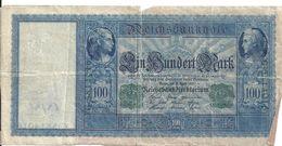 ALLEMAGNE 100 MARK 1910 VG+ P 42 - [ 2] 1871-1918 : Impero Tedesco