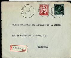 Doc. De MICHEROUX - A - Du 08/05/57  En Rec. ( Devant) - Marcophilie
