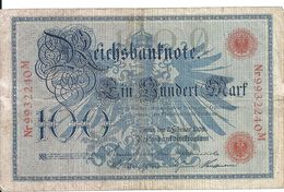 ALLEMAGNE 100 MARK 1908 VF P 33 - [ 2] 1871-1918 : Impero Tedesco