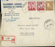 Doc. De MERY - A A - Du 28/01/55 En Rec. ( E ) - Postmark Collection
