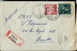 Doc. De MESLIN - L'EVEQUE - B B - Du 26/08/57 En Rec. ( E ) - Postmark Collection