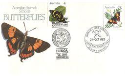 (D 24) Australia - FDC - 1983 - Butterfly - Vlinders