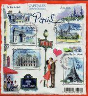 France Oblitération Cachet à Date BF N° F 4514 - Capitale - Ville - PARIS - Usados